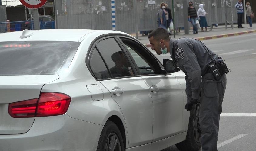 מאבק בקורונה. צילום: דוברות משטרת ישראל