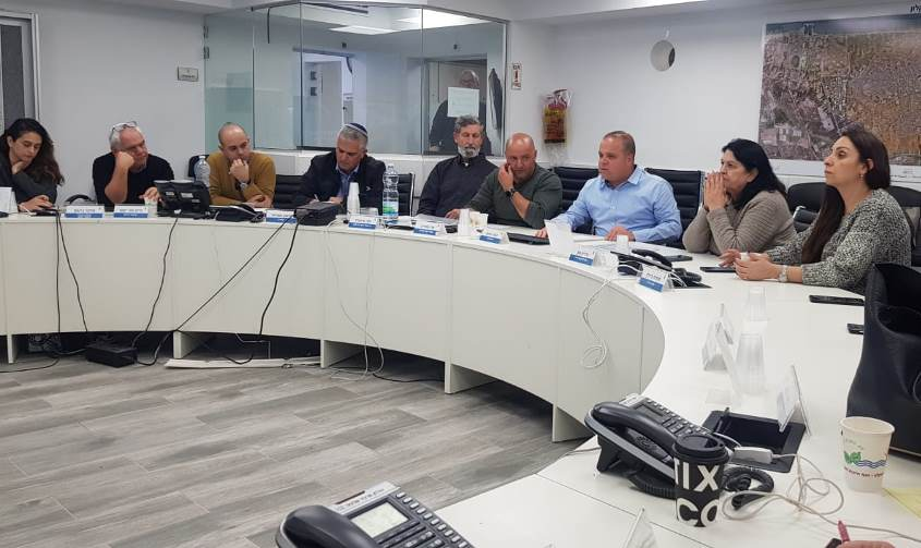 """הישיבה היום בחמ""""ל העירוני. צילום: דוברות העירייה"""