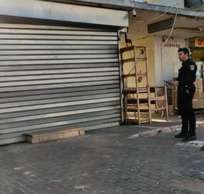 העסק שנסגר באשקלון. צילום: דוברות המשטרה