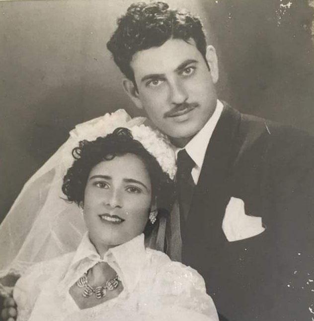 סבתא ברטה וסבא זאקי זכרם. צילום מאלבום משפחתי לברכה