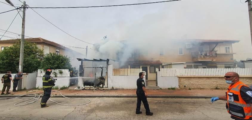 זירת השריפה. צילום: אלדד עובדיה