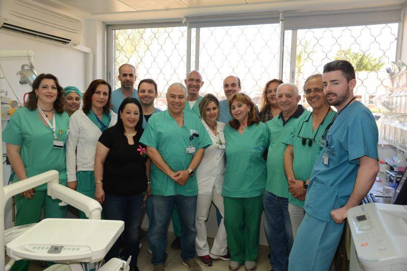 צוות המחלקה המנצח. צילום רפואי ברזילי