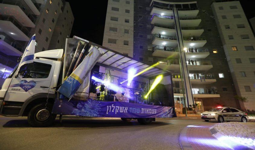 משאית מוזיקה ביום העצמאות. צילום: אדי ישראל וסיון מטודי