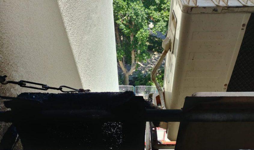 זירת השריפה. צילום: דוברות כבאות והצלה