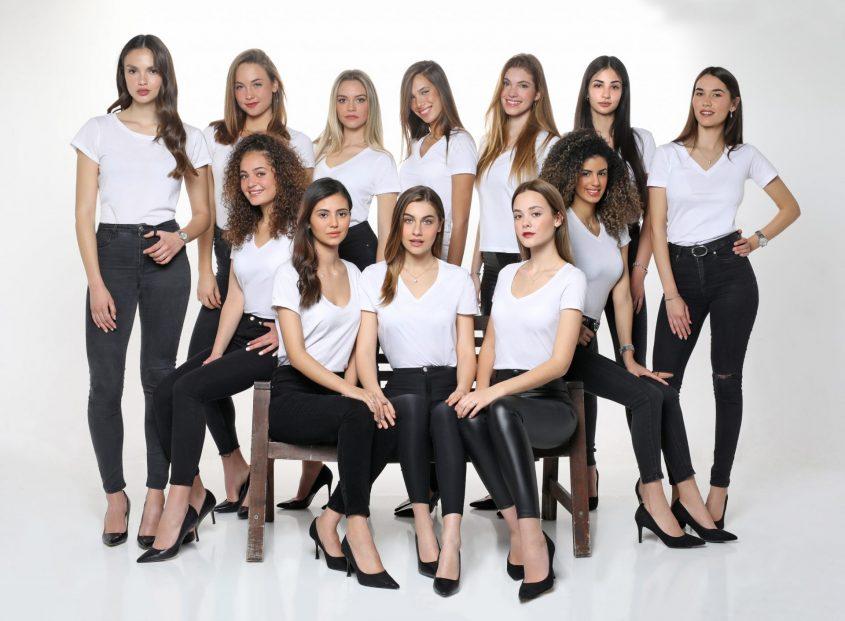 המועמדות שעלו לשלב הסופי התחרות מיס ישראל 2020. צילום: טל שחר