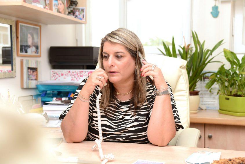 איילת קידר במשרדה בברזילי. צילום: מורן ניסים