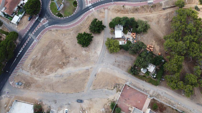 השטח הפתוח שצפוי להפוך לפרויקט מגורים.
