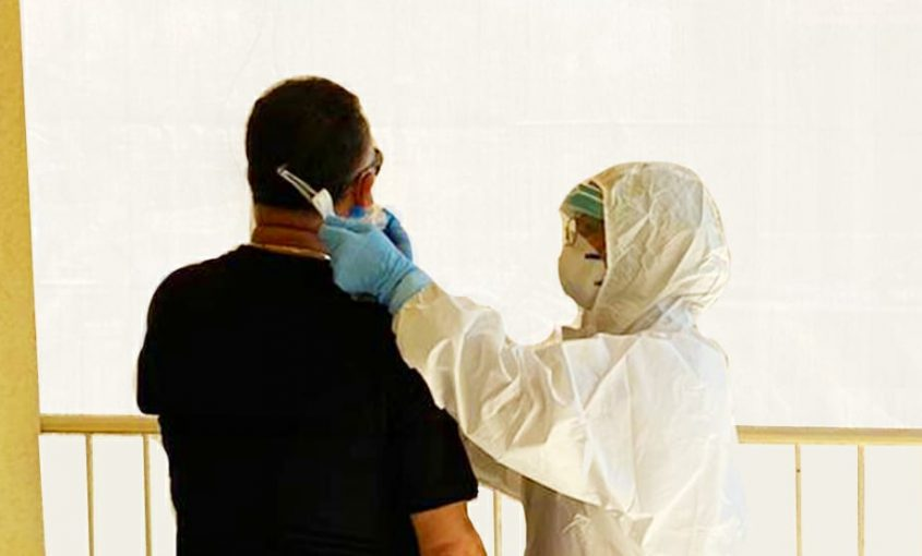 בדיקות קורונה. צילום: שירותי בריאות כללית