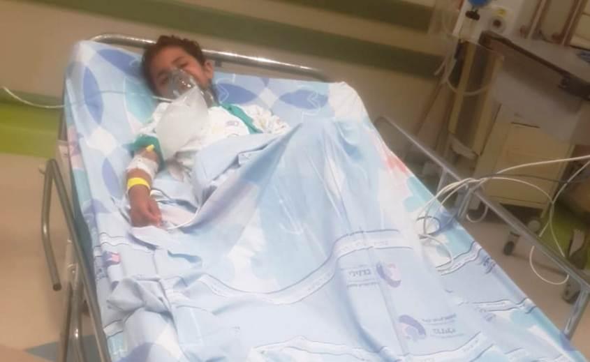 אחד מהילדים שטבעו בבית החולים