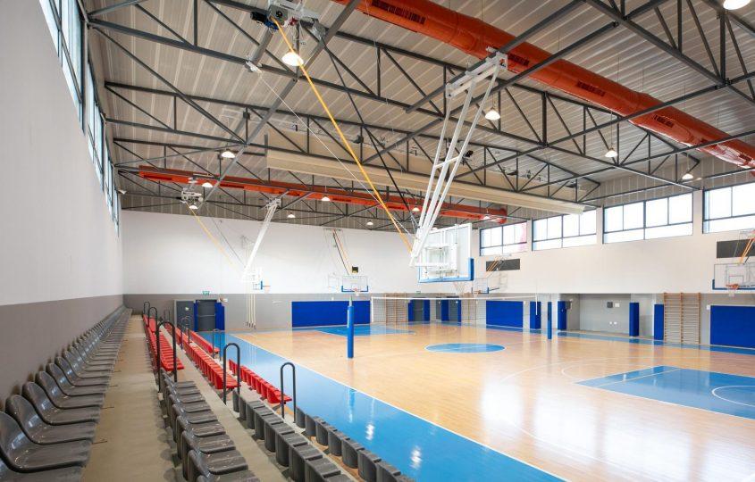 אולם הספורט החדש בבית הספר מצפה ימים. צילום: סיוון מטודי