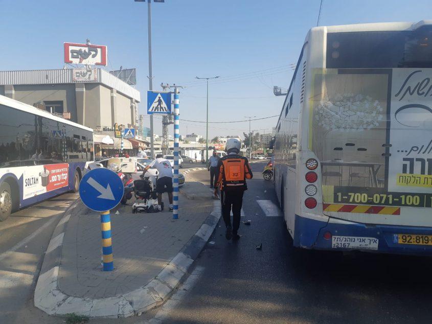 התאונה ברחוב דוד רמז. צילום: אלירם משה