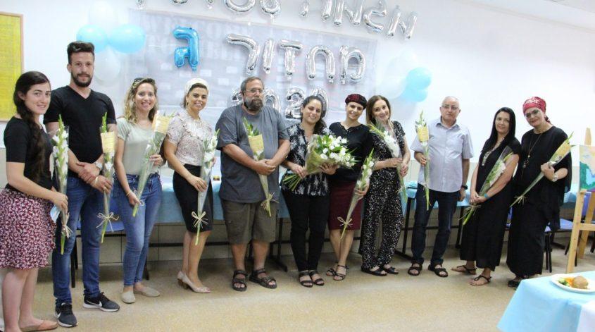 צוות המורים והמטפלים של מגמה לעתיד באשקלון