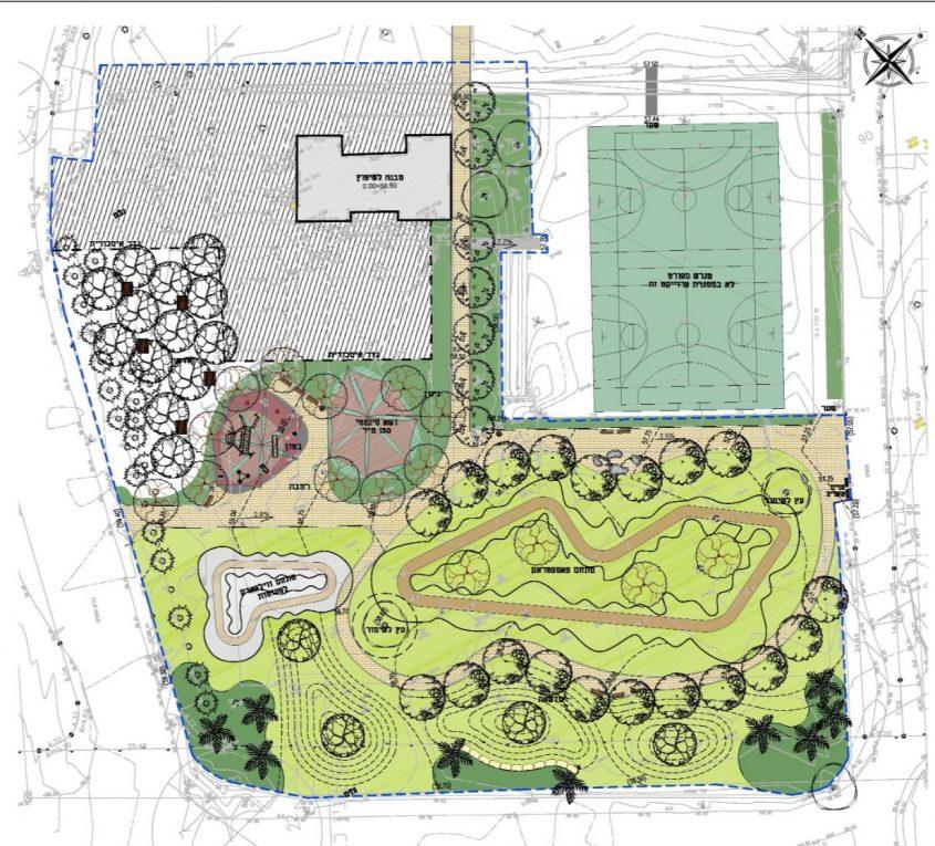 תרשים הפארק המתוכנן. אילוסטרציה: דוברות מועצה אזורית חוף אשקלון