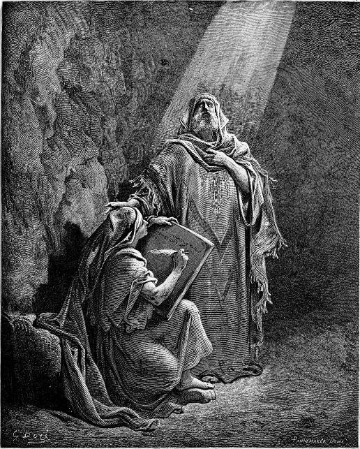 ירמיהו מנבא ובן נריה מעתיק את נבואותיו. תחריט מאת גוסטב דורה