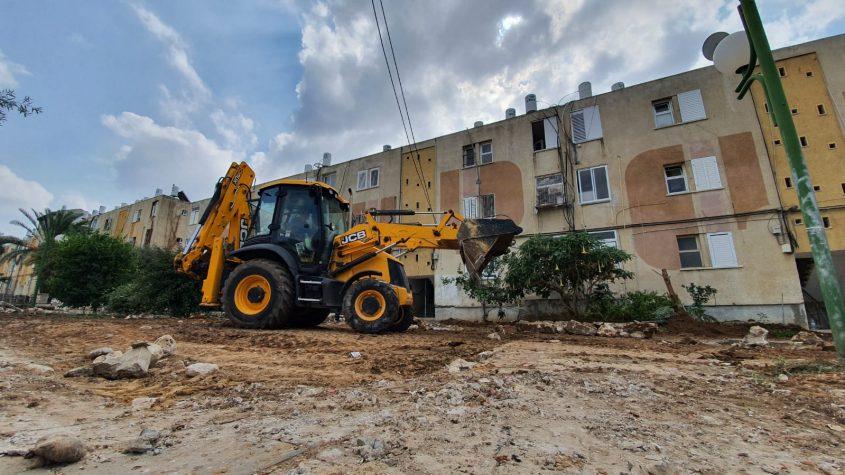 עבודות פיתוח בשכונות הדרומיות. צילום: דוברות עיריית אשקלון