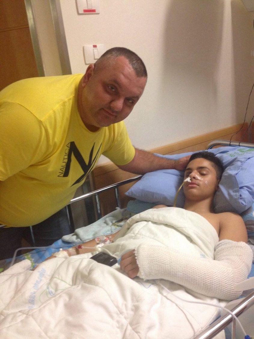 ירין קוקיאשווילי בבית החולים. צילום: מהאלבום הפרטי