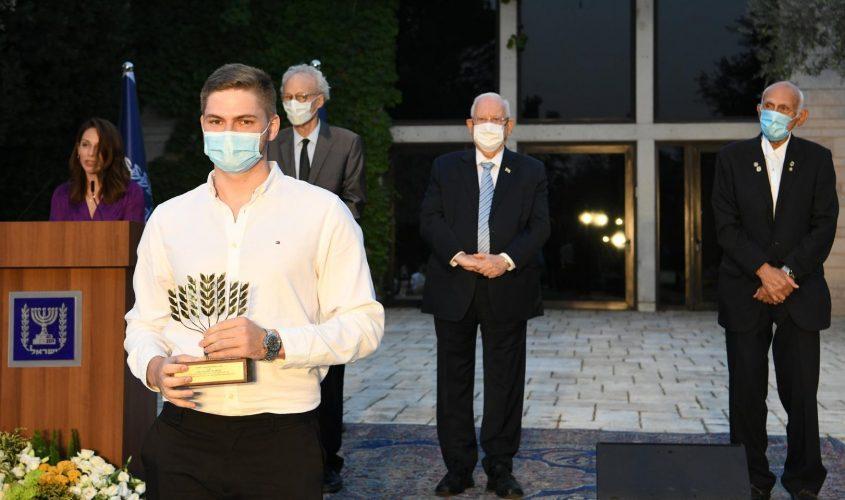 """יעקב פיזנברג בבית הנשיא. צילום: עמוס בן גרשום, לע""""מ"""