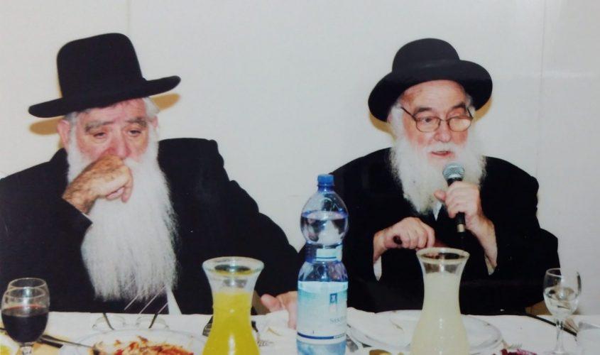 הרב יוסף שרביט והרב יוסף חיים בלוי זכרם לברכה. צילום רפרודוקציה