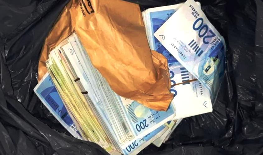 שק כסף. צילום ארכיון: דוברות המשטרה