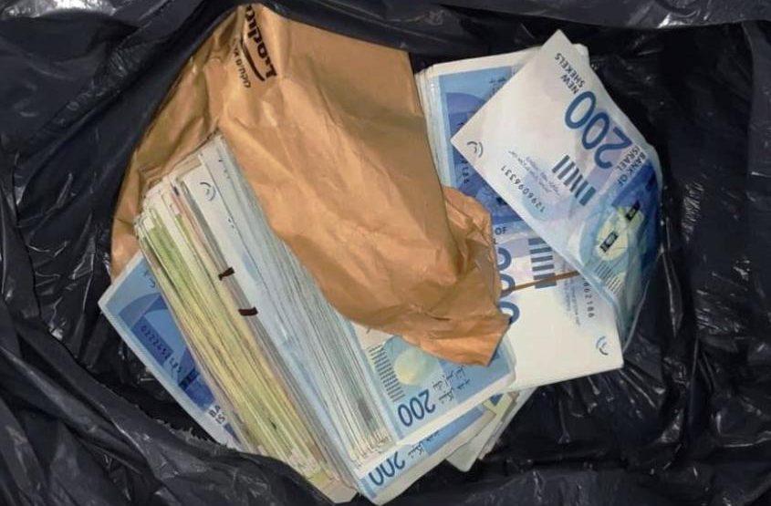 שק של כסף. צילום ארכיון: דוברות המשטרה