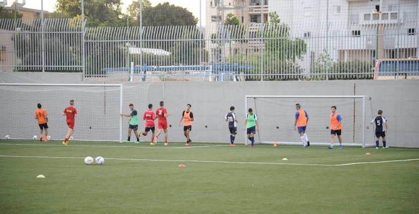 אימון קבוצת הנוער של הפועל אשקלון