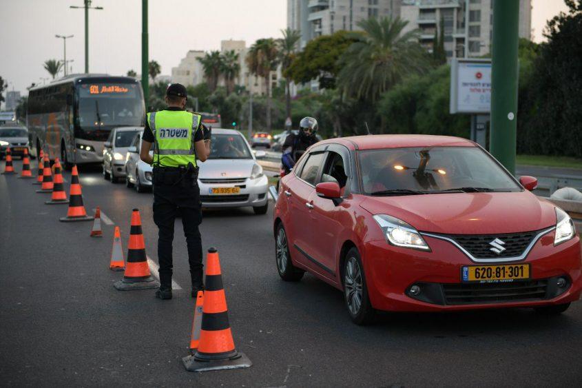 פעילות המשטרה במהלך סגר הקורונה. צילום: דוברות המשטרה