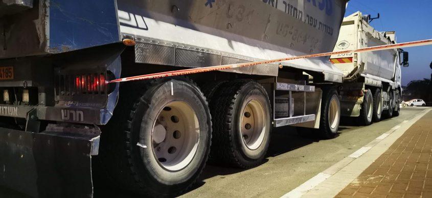 הסימון על גלגלי המשאית