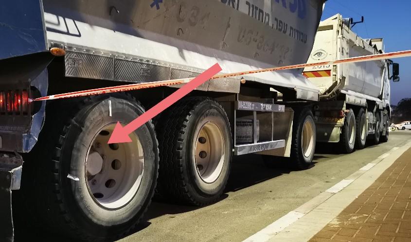 בחלק הזה של המשאית אירעה, כך לפי חקירת המשטרה