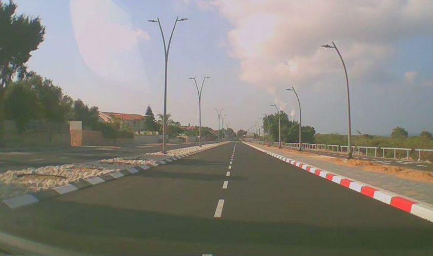 רחוב חיל הים, כביש עוקף עתיקות החדש. צילום: אלירם משה