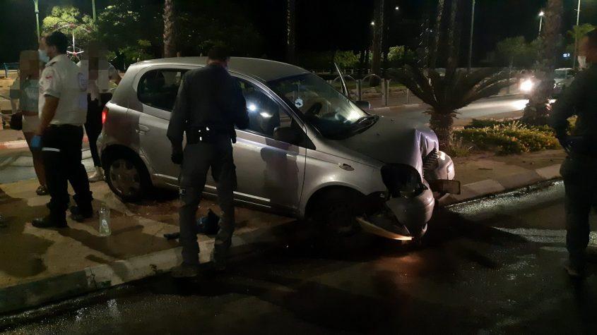 זירת התאונה הלילה. צילום: אלירם משה