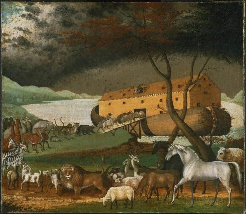 תיבת נוח. ציור של אדוורד היקס. מתוך: ויקיפדיה