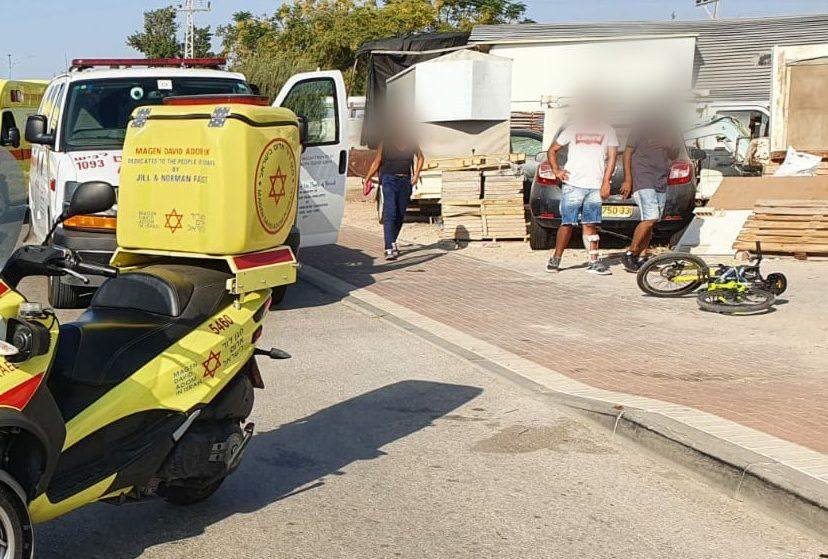 """האופניים בזירת המקרה. צילום: תיעוד מבצעי מד""""א"""