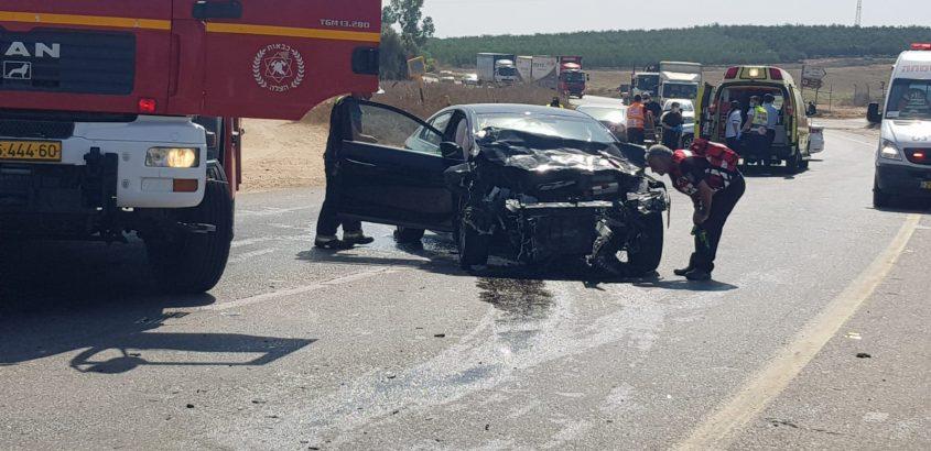 תאונת הדרכים הקטלנית בכביש 232. צילום. ארגון הצלה