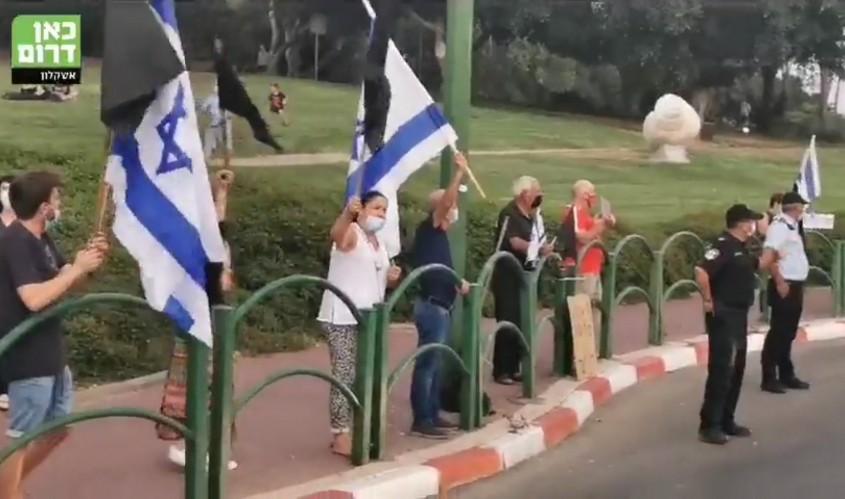 הפגנה נגד נתניהו באשקלון