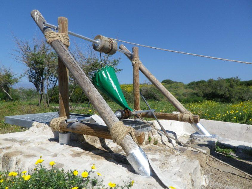 באר אשקלונית בוצע על ידי תלמידי אורט אדיבי ועובדי גן לאומי 2015