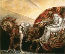 אלוהים מעניש את אדם. ציור מעשה ידי ויליאם בלייק,1795. מתוך ויקיפדיה