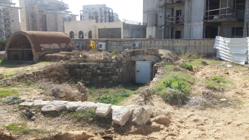 כך נראה אתר הקברים הרומיים באשקלון בינואר 2017