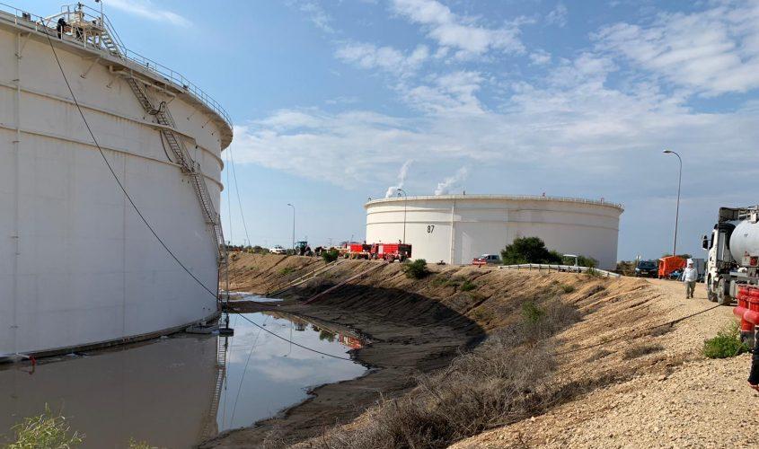 המכל שממנו דלף החומר שגרם לריחות הקשים. צילום: דוברות המשרד להגנת הסביבה