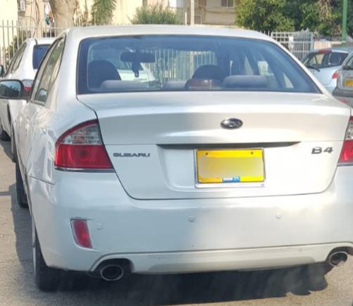 הרכב שבו נהג תושב נתיבות למרות שלא הוציא רישיון מעולם. צילום: דוברות המשטרה
