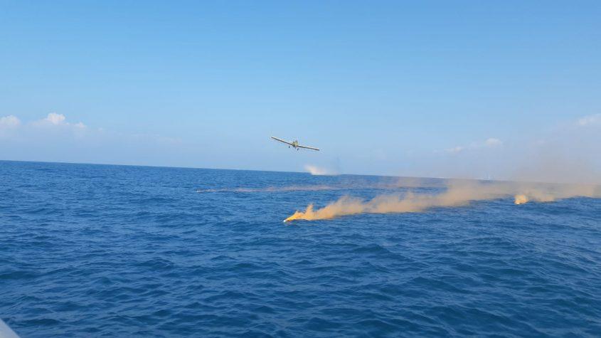תרגיל זיום ים מול חופי אשקלון. צילום: איגוד ערים לאיכות הסביבה, נפת אשקלון