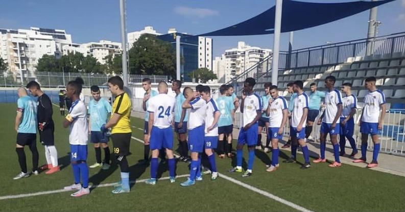 קבוצת הנוער של מכבי אשקלון. צילום: מכבי אשקלון