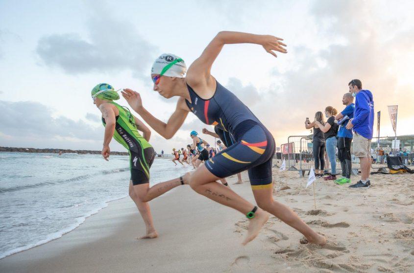 טריאתלון אשקלון יוצא לדרך גם בים. צילום: סיוון מטודי