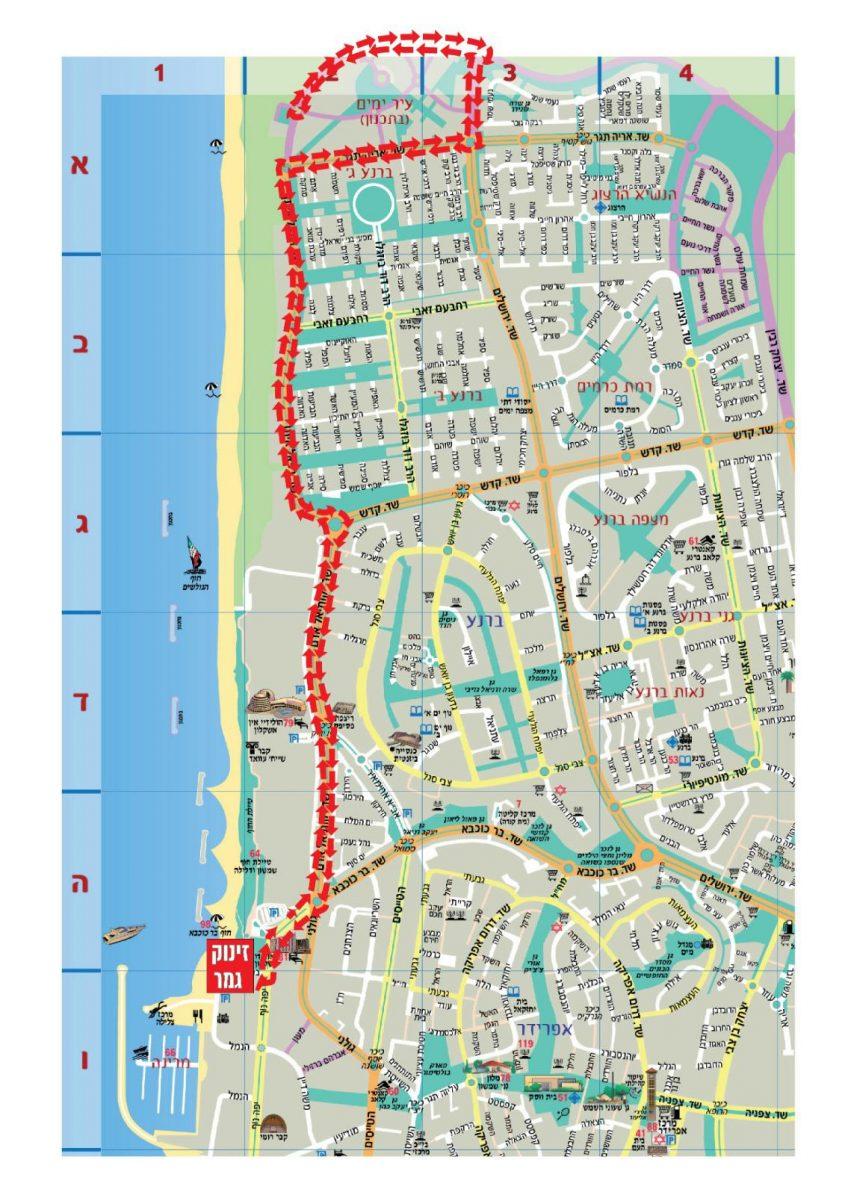 מפת הכבישים שיהיו סגורים במהלך הטריאתלון