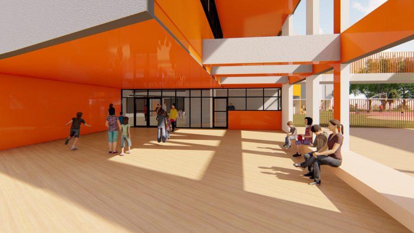 בית הספר היסודי שמוקם בשכונת עיר ימים. הדמיה