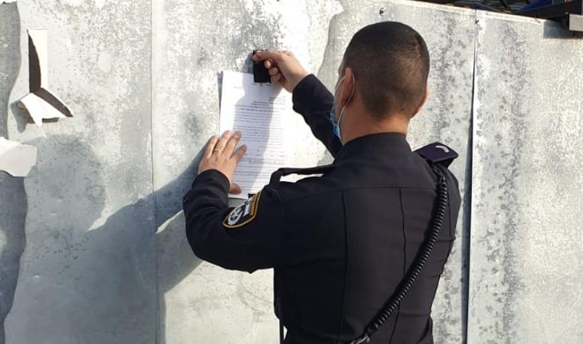 צו סגירה. צילום: דוברות המשטרה