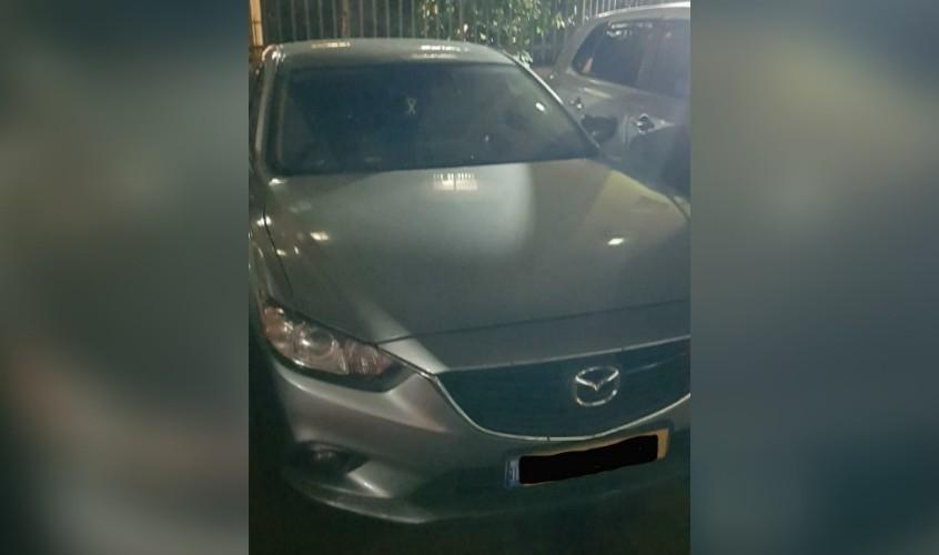 המכונית שהייתה מעורבת בתאונה. צילום: דוברות המשטרה
