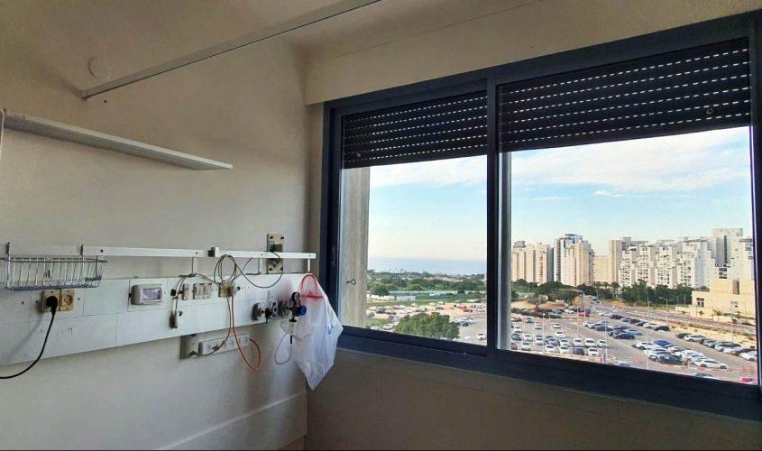 הנוף מהמחלקה הפנימית. צילום: דוד אביעוז, צילום רפואי, דוברות ברזילי