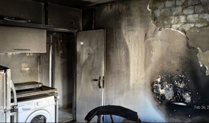 הדירה שנשרפה. צילום: תיעוד מבצעי כבאות והצלה לישראל