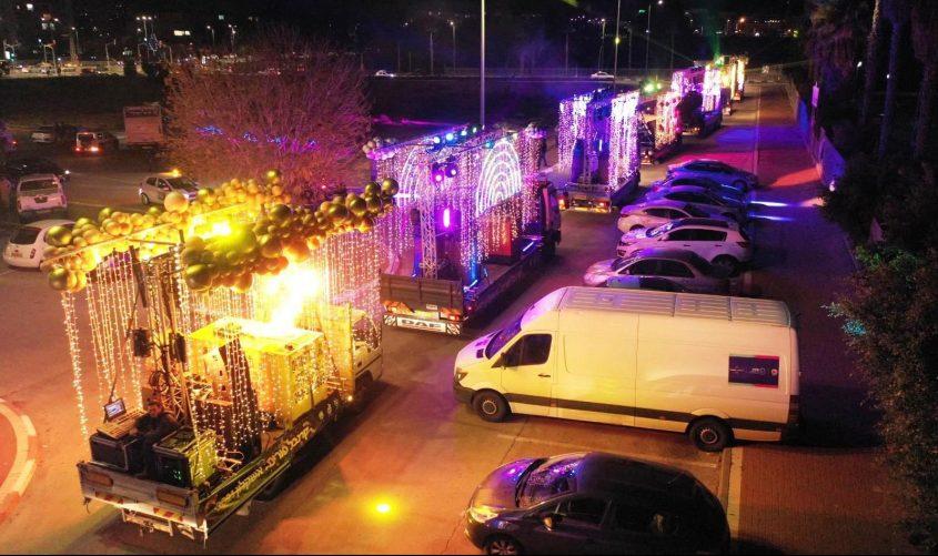 המשאיות באשקלון. צילום: savs.co.il