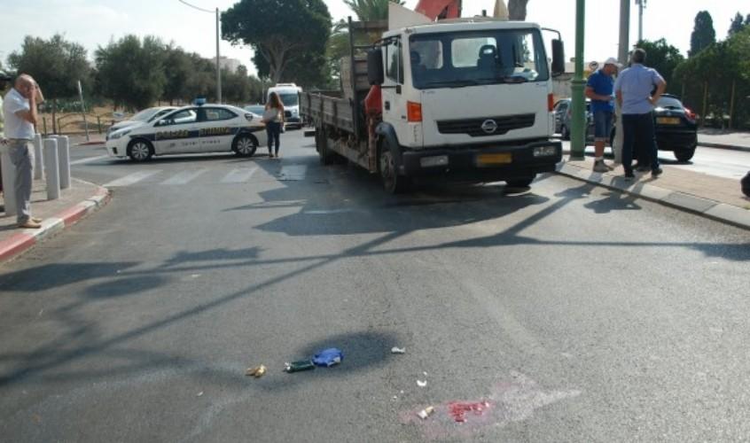 זירת התאונה. צילום: אלירם משה